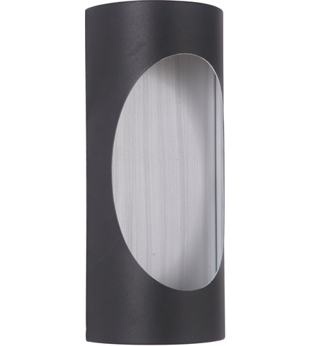 Craftmade Z3102-TBBA-LED Ellipse LED 11 inch Textured Black and Brushed Aluminum Outdoor Pocket Sconce, Small photo