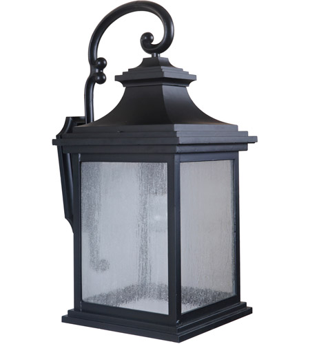 Craftmade Z3224-MN Gentry 1 Light 26 inch Midnight Outdoor Wall Lantern, Large photo