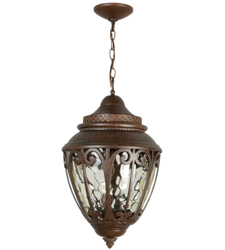 Craftmade Z3821-AG Olivier 3 Light 12 inch Aged Bronze Textured Outdoor Pendant, Large photo thumbnail