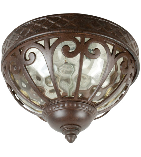 Craftmade Z3837-AG Olivier 2 Light 14 inch Aged Bronze Textured Outdoor Flushmount, Large photo