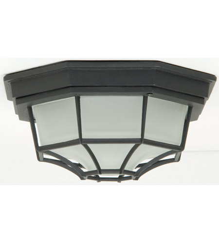 Craftmade Z389-TB Bulkheads 1 Light 11 inch Textured Matte Black Outdoor Flushmount, Large photo