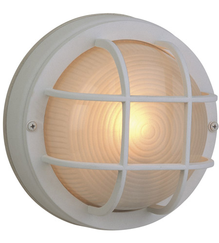 Craftmade Z394-TW Bulkheads 1 Light 8 inch Textured Matte White Outdoor Flushmount, Small photo