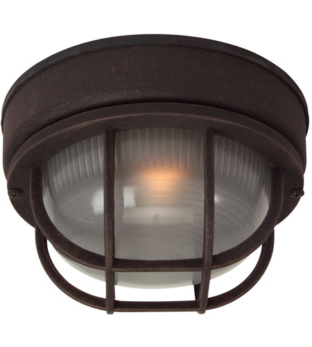 Craftmade Z394-RT Bulkheads 1 Light 8 inch Rust Outdoor Flushmount, Small photo