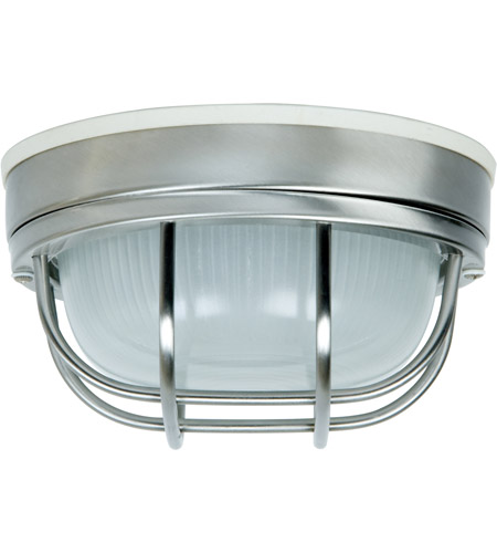 Craftmade Z394-SS Bulkheads 1 Light 8 inch Stainless Steel Outdoor Flushmount, Small photo