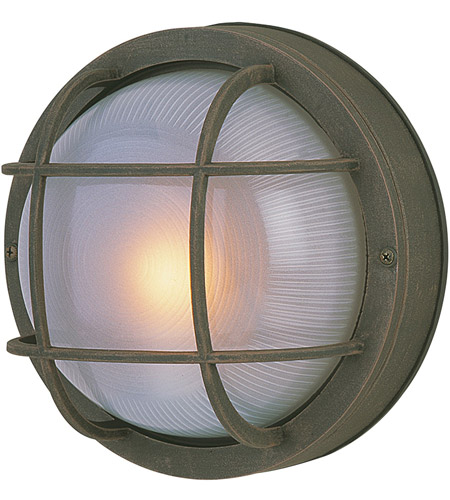 Craftmade Z395-RT Bulkheads 1 Light 10 inch Rust Outdoor Flushmount, Large photo