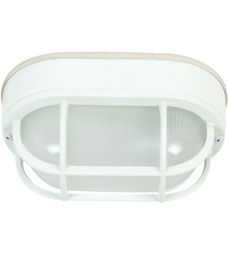 Craftmade Z396-TW Bulkheads 1 Light 5 inch Textured Matte White Outdoor Flushmount, Small photo
