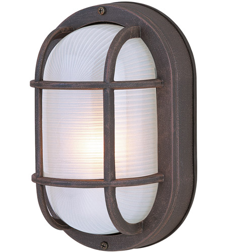 Craftmade Z396-RT Bulkheads 1 Light 5 inch Rust Outdoor Flushmount, Small photo