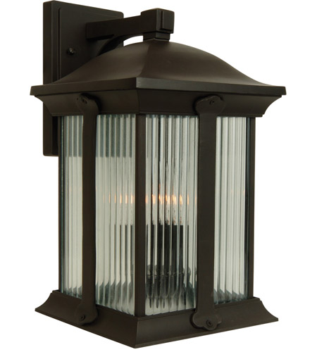 Craftmade Z4124-OBO Summit 3 Light 20 inch Oiled Bronze Outdoor Wall Lantern, Large photo