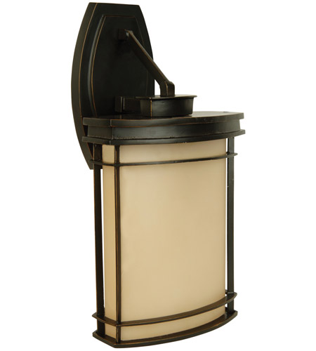 Craftmade z4304 92 vale 1 light 18 inch oiled bronze outdoor wall craftmade z4304 92 vale 1 light 18 inch oiled bronze outdoor wall mount in champagne frost mozeypictures Images