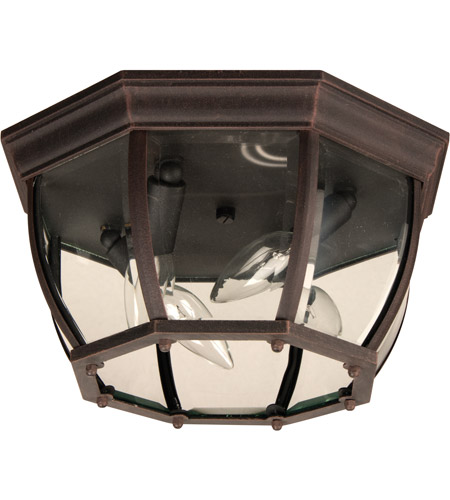 Craftmade Z434-RT Bent Glass 4 Light 13 inch Rust Outdoor Flushmount, Large photo