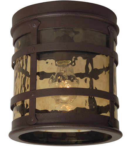 Craftmade Z5017-RI Espana 1 Light 8 inch Rustic Iron Outdoor Flushmount, Small photo