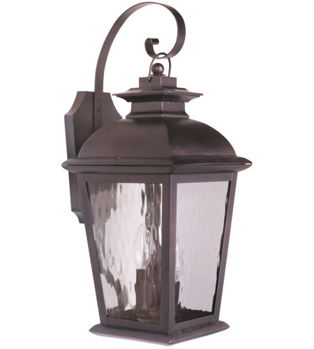 Craftmade Z5714-OBO Branbury 3 Light 22 inch Oiled Bronze Outdoor Wall Lantern, Medium photo