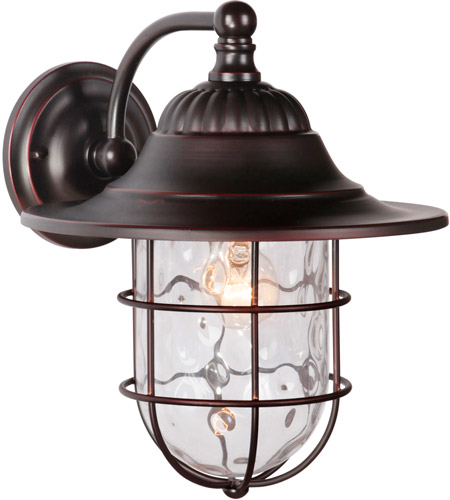 Craftmade Z5824-OBG Fairmont 1 Light 14 inch Oiled Bronze Gilded Outdoor Wall Lantern, Large photo