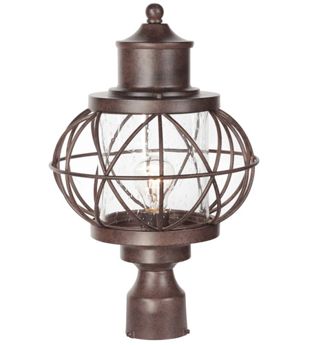 Craftmade Z5925-AG Revere 1 Light 18 inch Aged Bronze Textured Outdoor Post Light, Large photo