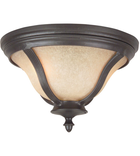 Craftmade Z6117-OBO Frances II 2 Light 14 inch Oiled Bronze Outdoor Flushmount, Medium photo