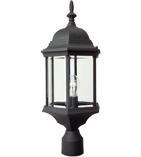 Craftmade z695 tb hex style 1 light 22 inch textured matte black craftmade z695 tb hex style 1 light 22 inch textured matte black outdoor post light large mozeypictures Image collections