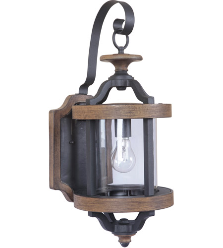 Craftmade Z7914-TBWB Ashwood 1 Light 23 inch Textured Black and Whiskey Barrel Outdoor Wall Lantern, Medium photo