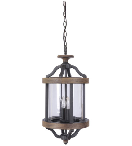 Craftmade Z7921-TBWB Ashwood 2 Light 11 inch Textured Black and Whiskey Barrel Outdoor Pendant photo