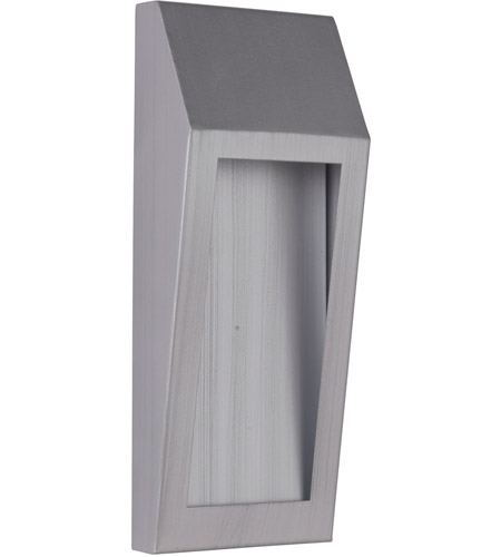 Craftmade Z9302-BAO-LED Wedge LED 11 inch Brushed Aluminum Outdoor Pocket Sconce, Small photo