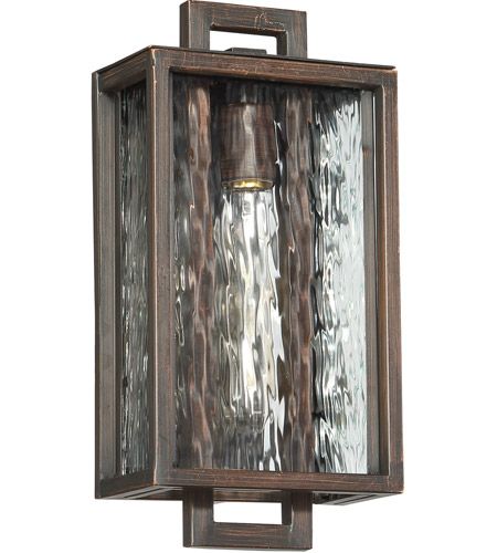 Craftmade Z9802-ABZ Cubic 1 Light 14 inch Aged Bronze Brushed Outdoor Pocket Sconce, Small photo