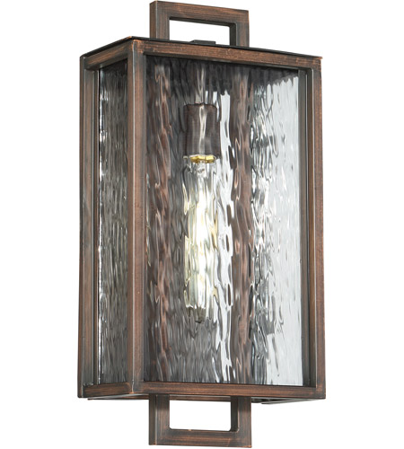 Craftmade Z9814-ABZ Cubic 1 Light 17 inch Aged Bronze Brushed Outdoor Wall Lantern, Medium photo