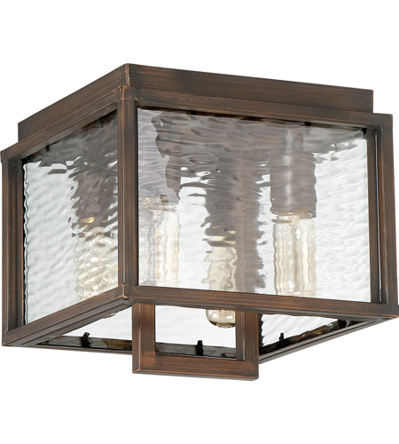 Craftmade Z9827-ABZ Cubic 4 Light 10 inch Aged Bronze Brushed Outdoor Flushmount, Large photo