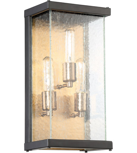 Craftmade Z9912-MNPAB Farnsworth 3 Light 16 inch Midnight and Patina Aged Brass Outdoor Pocket Sconce, Medium photo