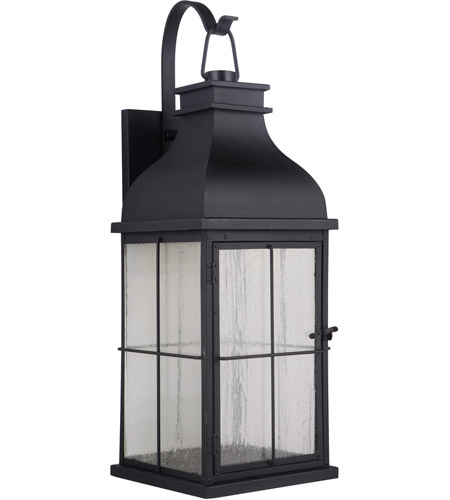 Craftmade ZA1824-MN-LED Vincent LED 25 inch Midnight Outdoor Wall Lantern, Large photo