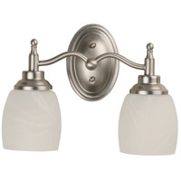Jeremiah by Craftmade Legion 2 Light Vanity Light in Brushed Nickel 10212BN2