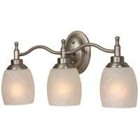 Jeremiah by Craftmade Legion 3 Light Vanity Light in Brushed Nickel 10220BN3