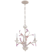 Signature 3 Light 17 inch Antique Linen Mini Chandelier Ceiling Light