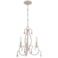Signature 3 Light 15 inch Antique Linen Mini Chandelier Ceiling Light