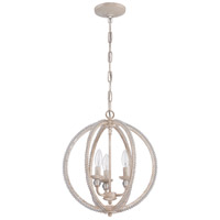 Craftmade 1043C-ATL Signature 3 Light 15 inch Antique Linen Mini Chandelier Ceiling Light