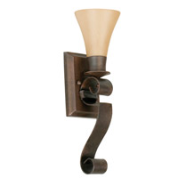 Jeremiah by Craftmade Marquis 1 Light Wall Sconce in Aged Bronze 10505AG1
