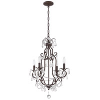 Craftmade 1054C-AG Signature 4 Light 17 inch Aged Bronze Textured Mini Chandelier Ceiling Light