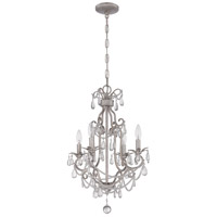 Signature 4 Light 17 inch Antique Silver Mini Chandelier Ceiling Light