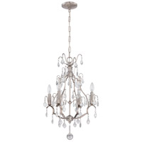 Signature 4 Light 17 inch Brushed Nickel Mini Chandelier Ceiling Light