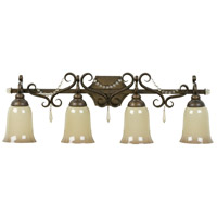 Brasilia 4 Light 33 inch Peruvian Bronze Vanity Light Wall Light in Caramel Speck