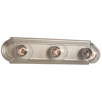 Racetrack 3 Light 18 inch Brushed Nickel Vanity Light Wall Light