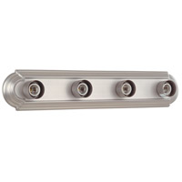 Racetrack 4 Light 24 inch Brushed Nickel Vanity Light Wall Light