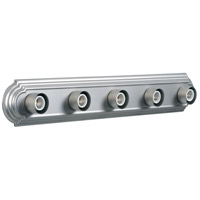 Racetrack 5 Light 30 inch Brushed Satin Nickel Vanity Light Wall Light in Brushed Nickel