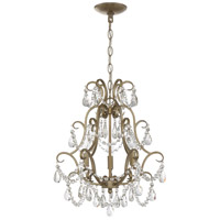 Signature 3 Light 16 inch Gold Twilight Mini Chandelier Ceiling Light, Jeremiah