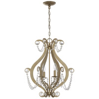 Craftmade 1144C-GT Signature 4 Light 18 inch Gold Twilight Mini Chandelier Ceiling Light, Jeremiah