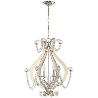Craftmade 1144C-PLN Signature 4 Light 18 inch Polished Nickel Mini Chandelier Ceiling Light Jeremiah