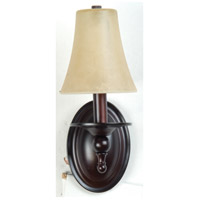 Jeremiah by Craftmade Flame 1 Light Wall Sconce in Oiled Bronze 11505OB1