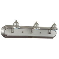 Arch Arm 3 Light 24 inch Brushed Nickel Vanity Light Wall Light
