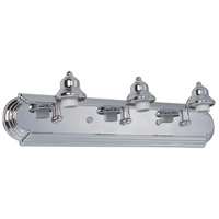 Arch Arm 3 Light 24 inch Chrome Vanity Light Wall Light