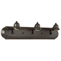 Craftmade 11724OB3 Racetrack 3 Light 24 inch Oiled Bronze Vanity Light Wall Light