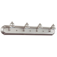 Jeremiah by Craftmade Arch Arm 4 Light Vanity Light in Brushed Nickel 11730BN4