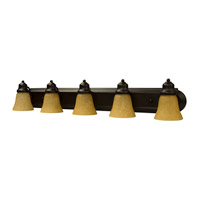 Jeremiah by Craftmade Arch Arm 5 Light Vanity Light in Oiled Bronze 11736OB5